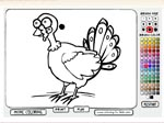 Thanksgiving coloring page - флеш игра онлайн