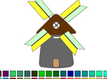 WindMill Coloring - флеш игра онлайн