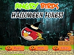 AngryBirds halloween Forest - флеш игра онлайн